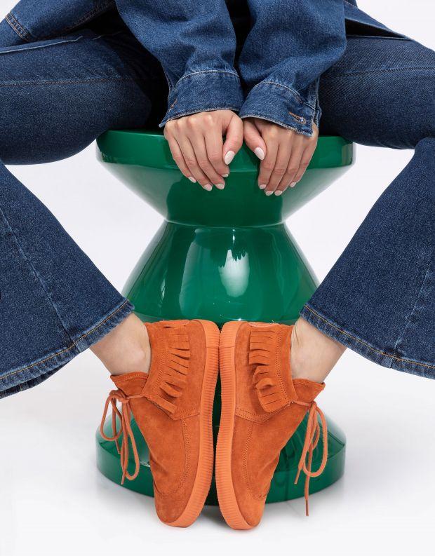 נעלי נשים - Aro - נעליים עם פרנזים NOELLE - כתום