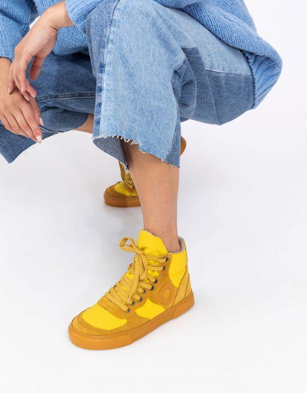 נעלי נשים - Aro - סניקרס גבוהים EMMA - צהוב