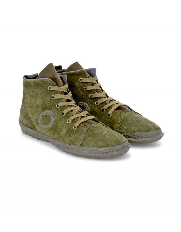 נעלי נשים - Aro - סניקרס זמש גבוהים WILLY - ירוק
