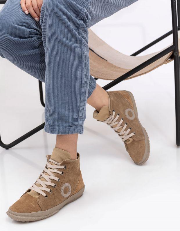 נעלי נשים - Aro - סניקרס זמש גבוהים WILLY - בז'