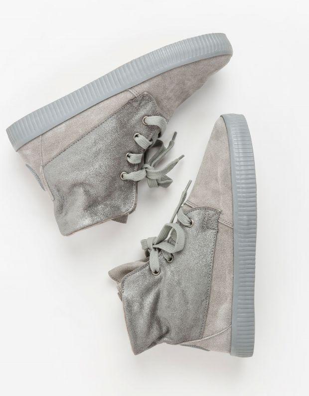 נעלי נשים - Aro - מגפונים עם שרוכים NOELLE - כסף