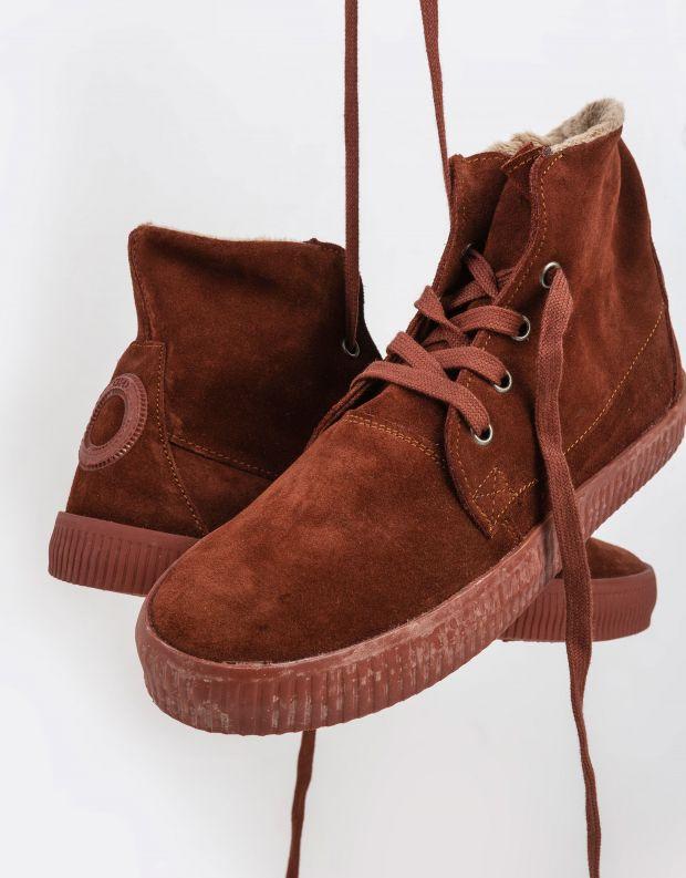 נעלי נשים - Aro - מגפונים עם שרוכים NOELLE - חמרה