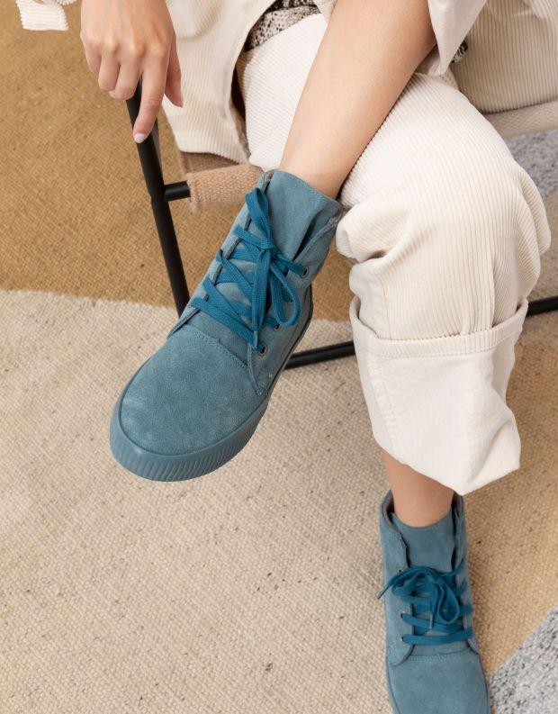 נעלי נשים - Aro - מגפונים עם שרוכים NOELLE - כחול