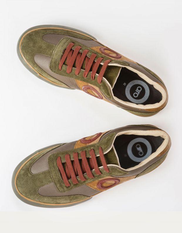נעלי גברים - Aro - סניקרס עור וזמש POL - ירוק