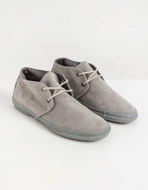 נעלי גברים - Aro - נעלי זמש WILLY - אפור בהיר