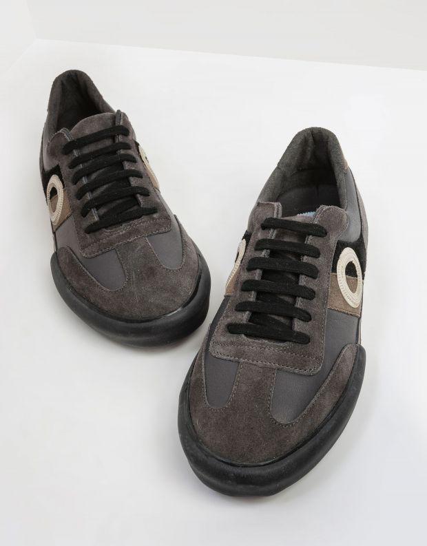 נעלי גברים - Aro - סניקרס עור וזמש POL - שחור