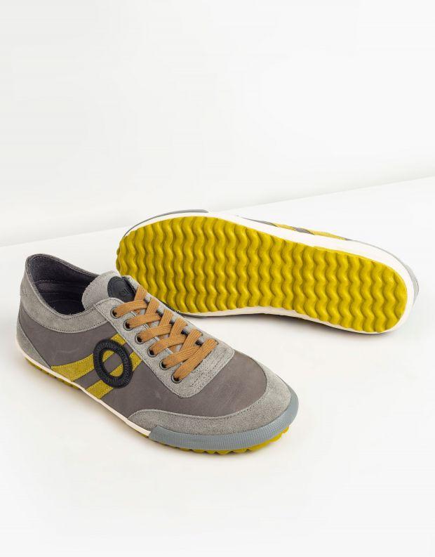נעלי גברים - Aro - סניקרס IDO - אפור   צהוב