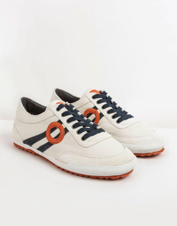 נעלי גברים - Aro - סניקרס IDO - לבן   כחול