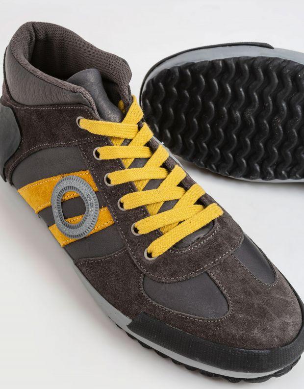 נעלי גברים - Aro - סניקרס גבוהות IDO - אפור   כתום