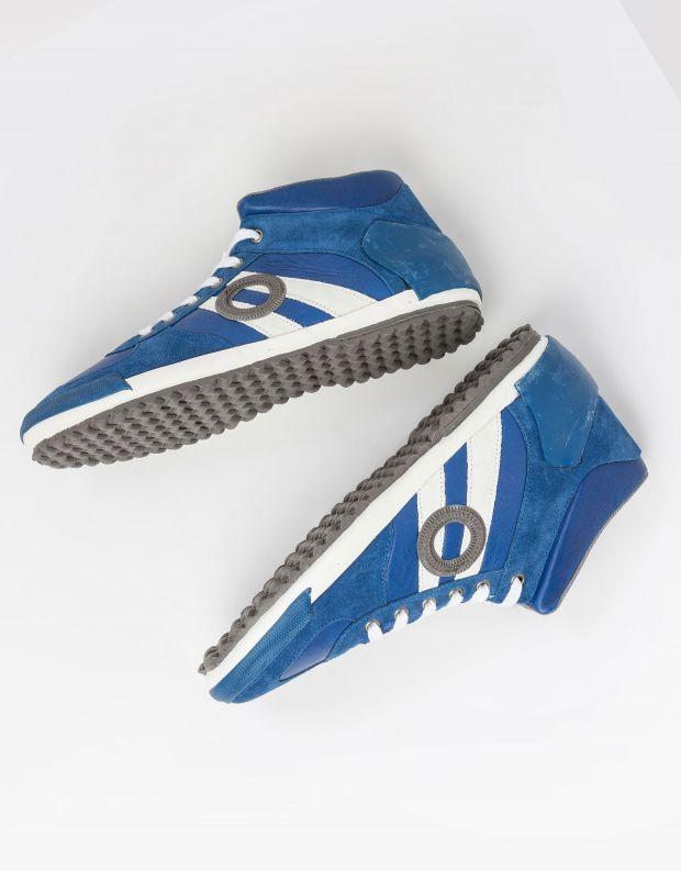 נעלי גברים - Aro - סניקרס גבוהות IDO - כחול   לבן