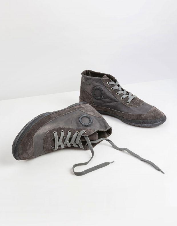נעלי גברים - Aro - סניקרס עור WILLY - אפור כהה
