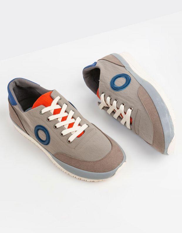 נעלי גברים - Aro - סניקרס JAQ B VEGAN - אפור בהיר