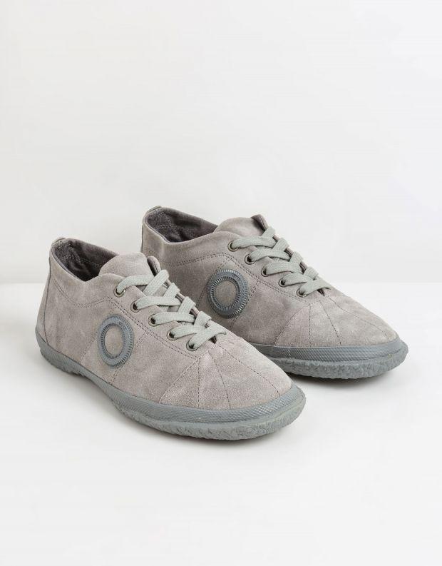 נעלי גברים - Aro - סניקרס זמש WILLY - אפור בהיר