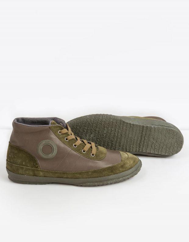 נעלי גברים - Aro - סניקרס עור WILLY - זית