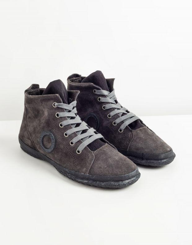 נעלי גברים - Aro - סניקרס זמש גבוהות WILLY - אפור כהה