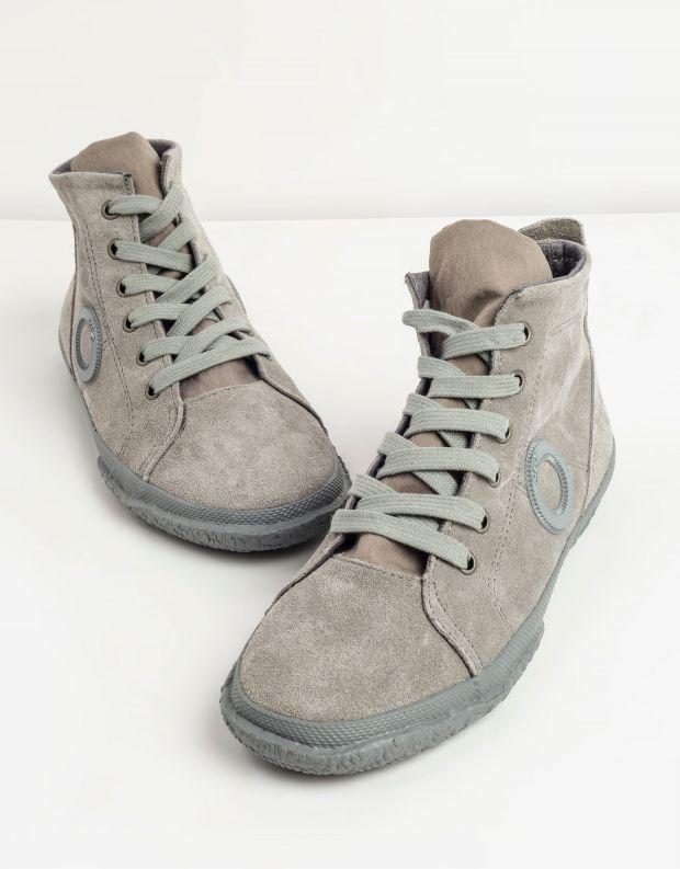 נעלי גברים - Aro - סניקרס זמש גבוהות WILLY - אפור בהיר