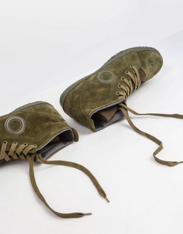 נעלי גברים - Aro - סניקרס זמש גבוהות WILLY - ירוק