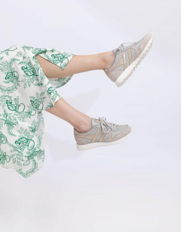 נעלי נשים - Gola - סניקרס DAYTONA LIZARD - אפור בהיר