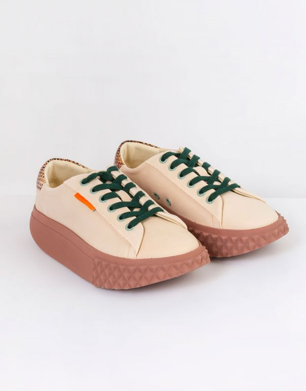 נעלי נשים - 4CCCCEES - סניקרס פלטפורמה BILLOW - ורוד