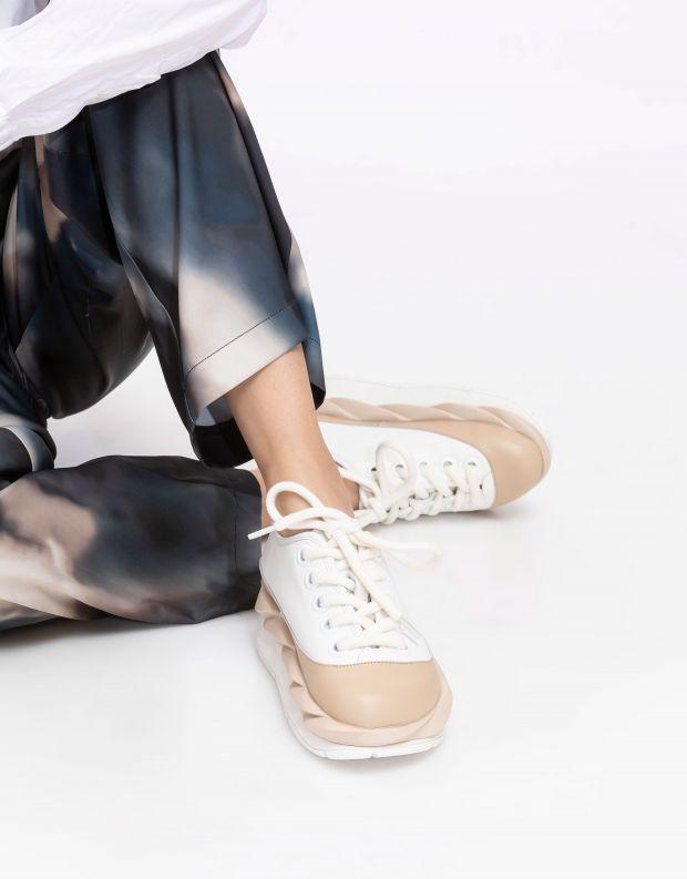 נעלי נשים - 4CCCCEES - סניקרס פלטפורמה MELLOW - לבן