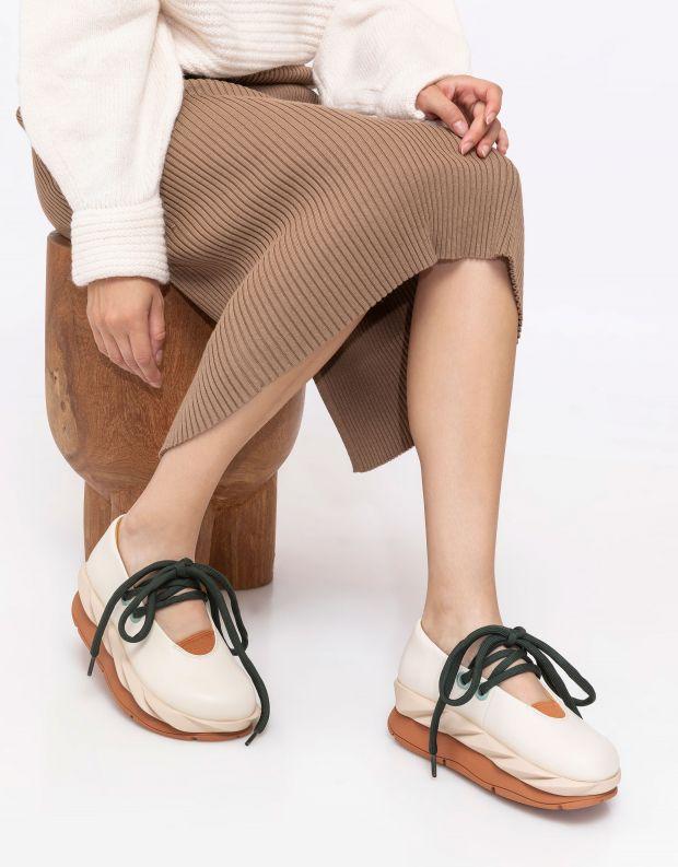 נעלי נשים - 4CCCCEES - נעלי בובה MELLOW PUMP - לבן