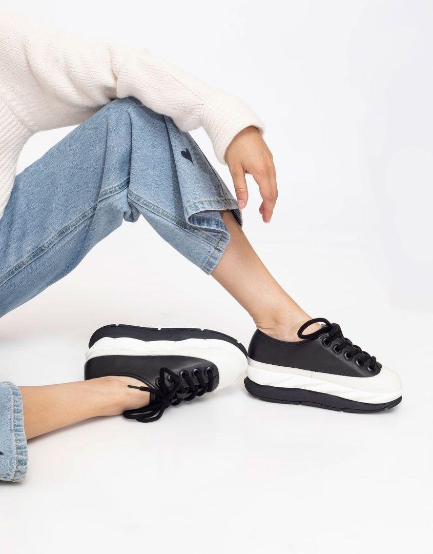נעלי נשים - 4CCCCEES - סניקרס פלטפורמה MELLOW - שחור