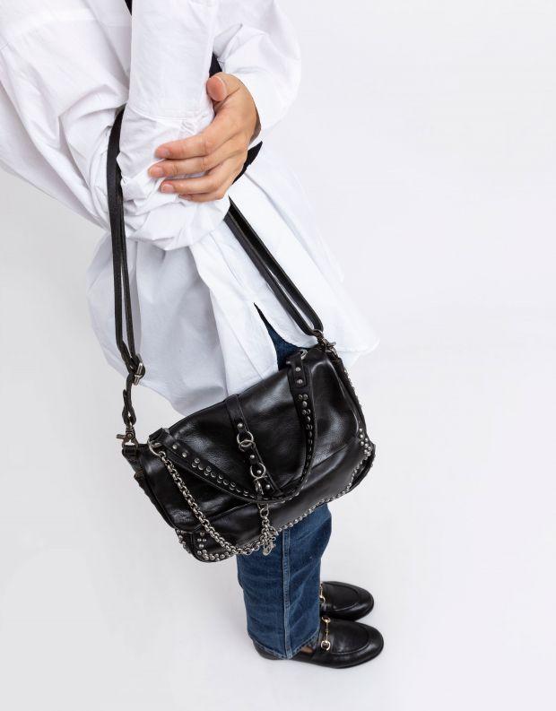 נעלי נשים - A.S. 98 - תיק קטן שרשרת מנעולים - שחור