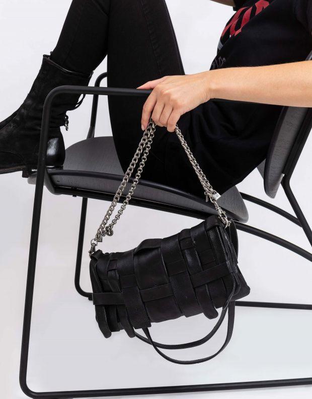 נעלי נשים - A.S. 98 - תיק שתי וערב עם שרשרת - שחור