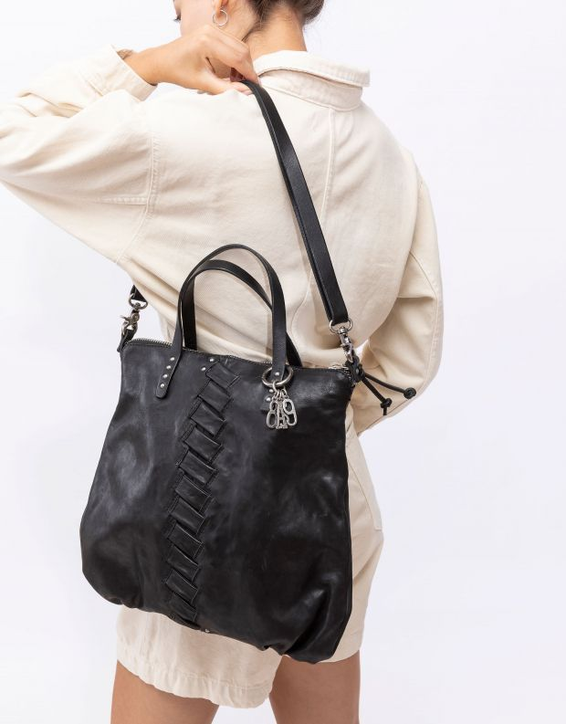 נעלי נשים - A.S. 98 - תיק צד מעוטר - שחור