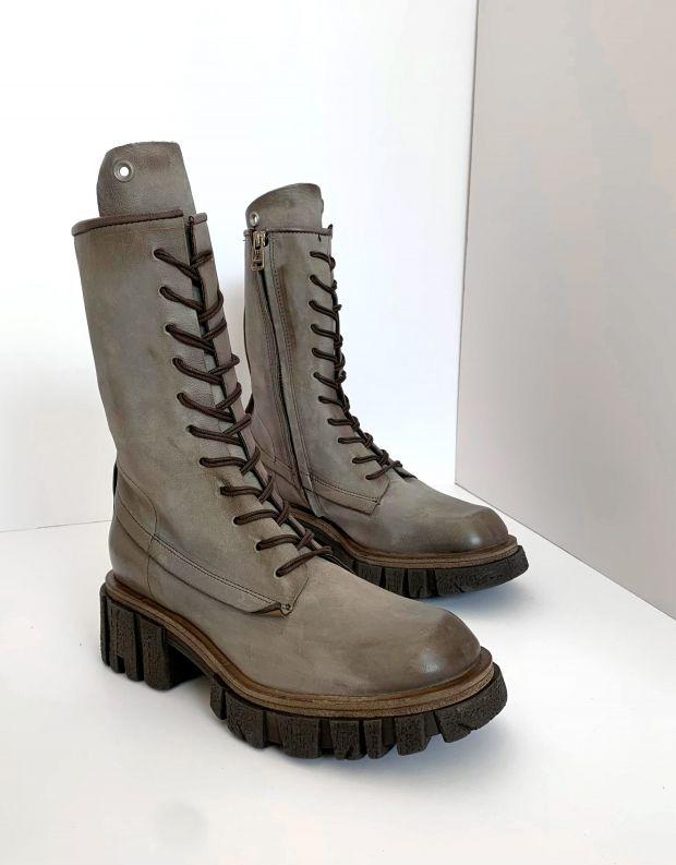 נעלי נשים - A.S. 98 - מגפיים עם שרוכים HELL - אפור