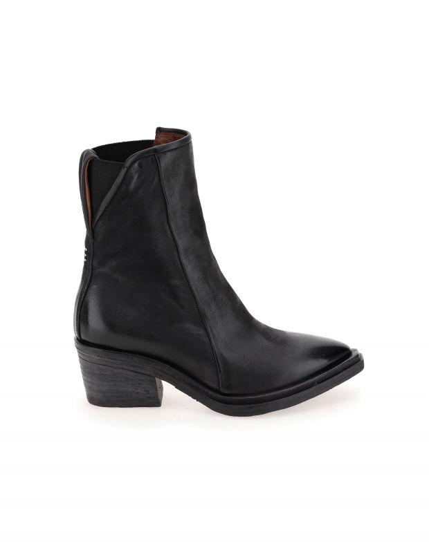 נעלי נשים - A.S. 98 - מגפוני עור עם עקב ISTINT - שחור