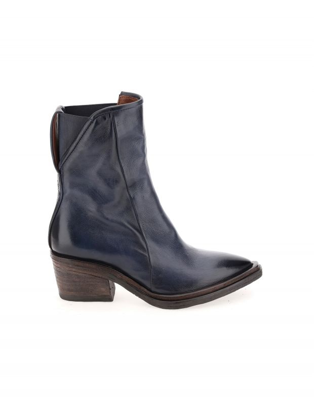 נעלי נשים - A.S. 98 - מגפוני עור עם עקב ISTINT - כחול