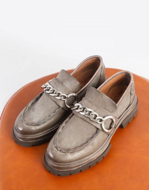 נעלי נשים - A.S. 98 - נעלי מוקסינים HEAVEN - אפור