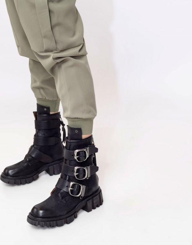 נעלי נשים - A.S. 98 - מגפונים עם אבזמים HELL - שחור