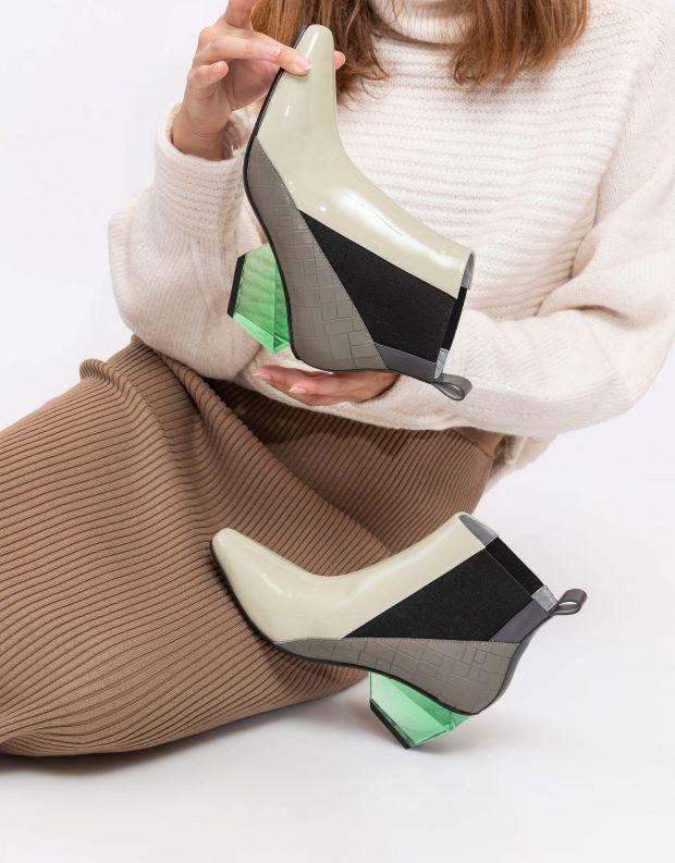 נעלי נשים - United Nude - מגפונים JACKY H - אפור