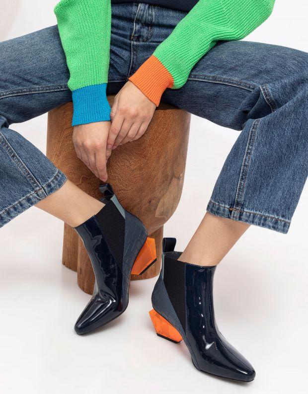 נעלי נשים - United Nude - מגפונים JACKY H - כחול