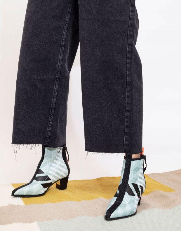 נעלי נשים - United Nude - מגפוני עקב LEV CALLI MID - מנטה