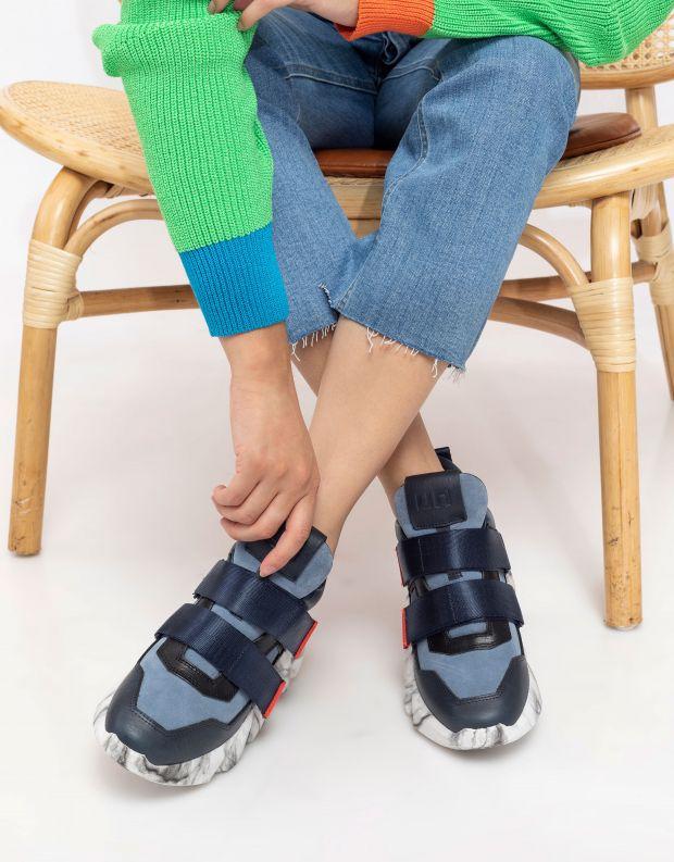 נעלי נשים - United Nude - סניקרסSPACE KICK סקוטצ'ים - כחול