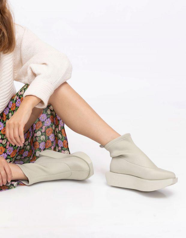 נעלי נשים - United Nude - מגפוני לייקרה WA - אפור בהיר