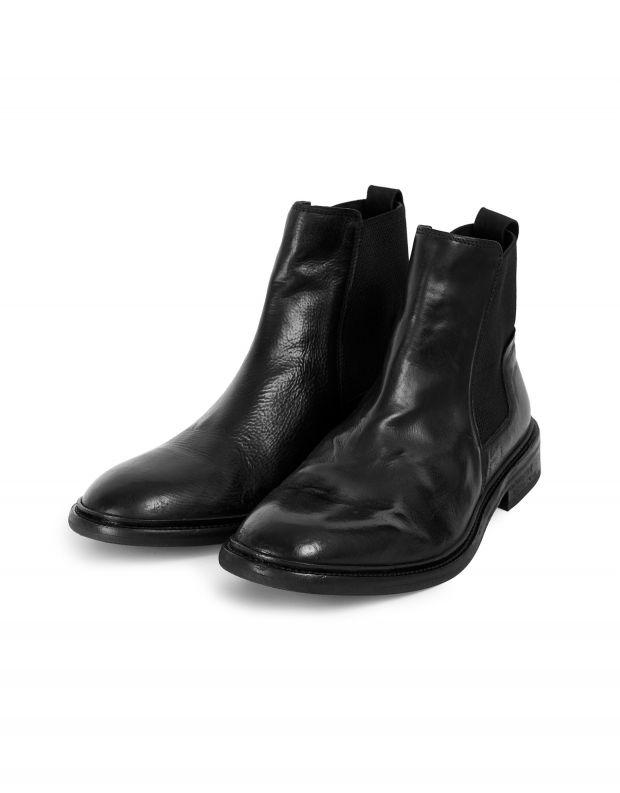 נעלי גברים - Hudson - מגפי עור HOFFMANN - שחור