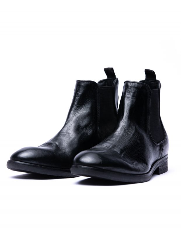 נעלי גברים - Hudson - מגפי עור KIRCHNER - שחור