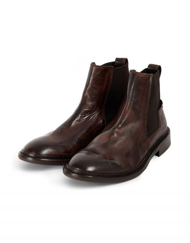 נעלי גברים - Hudson - מגפי עור HOFFMANN - חום