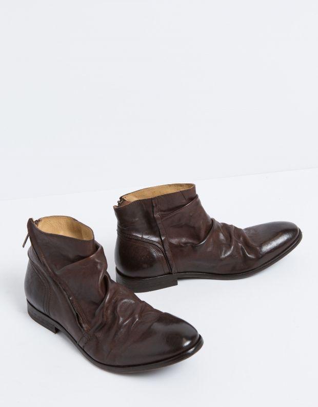 נעלי גברים - Hudson - מגפי עור NOEL - חום