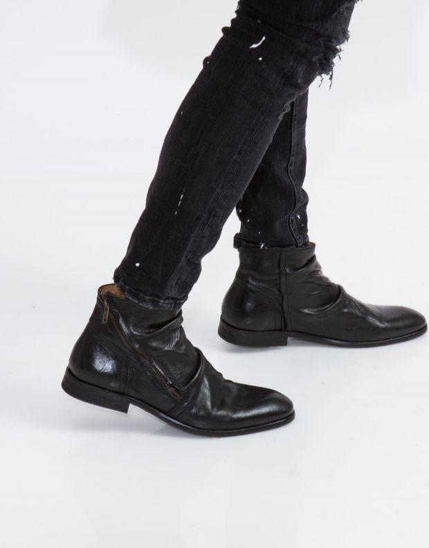 נעלי גברים - Hudson - מגפי עור NOEL - שחור