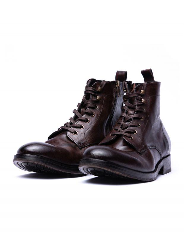 נעלי גברים - Hudson - נעלי עור גבוהות  RUNE - חום