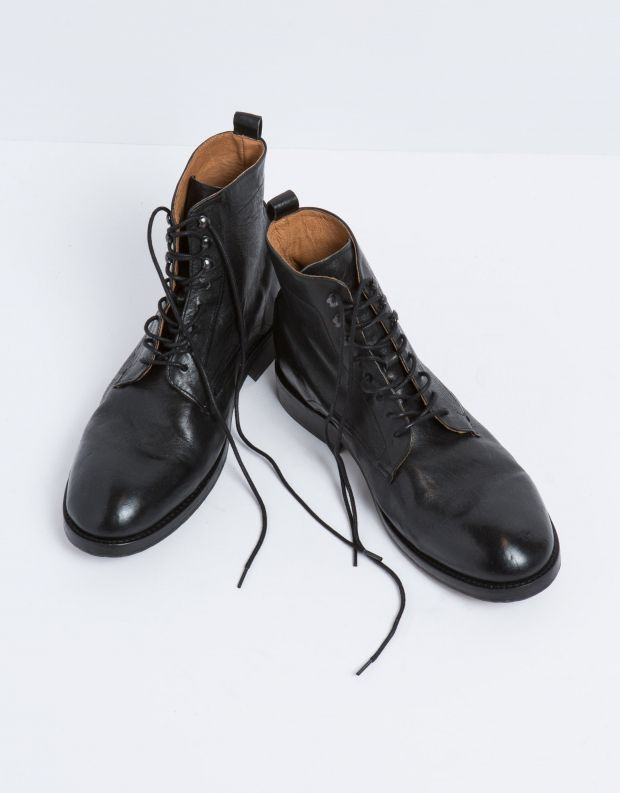 נעלי גברים - Hudson - נעלי עור YEW - שחור