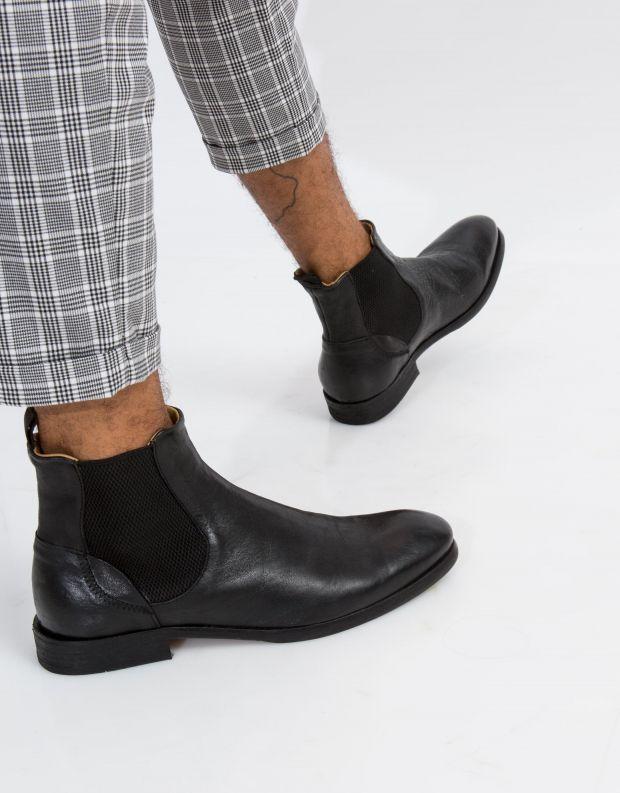 נעלי גברים - Hudson - מגפי עור WATCHLEY - שחור