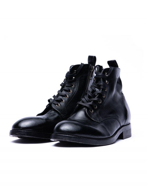 נעלי גברים - Hudson - נעלי עור גבוהות  RUNE - שחור