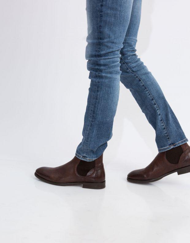נעלי גברים - Hudson - מגפי עור WATCHLEY - חום