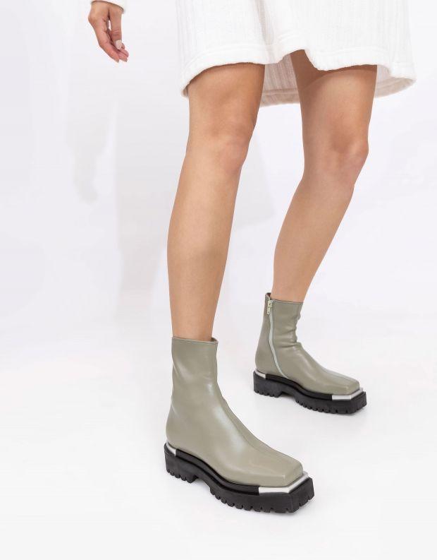 נעלי נשים - Jeffrey Campbell - מגפוני דמוי עור DEVOUT - מנטה